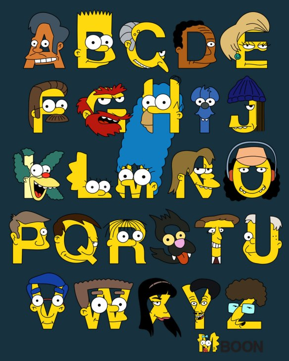 the-simpsons-alphabet